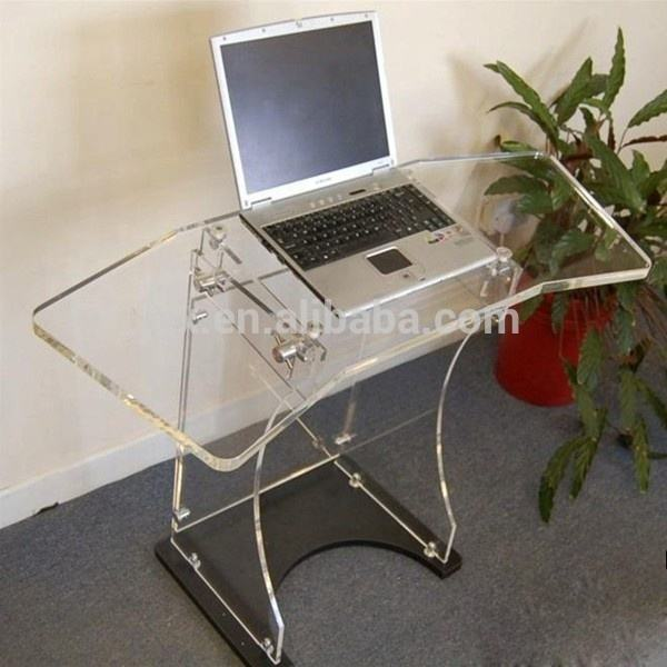 Traspanrent acrylic laptop table bed computer desk for sale