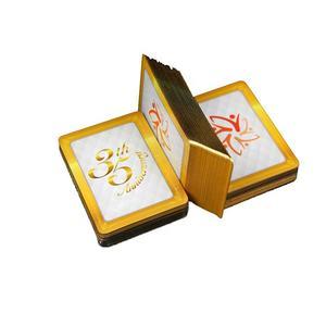 Высокое качество заказ 24 К золото края фольги игральные карты бумаги