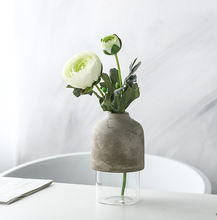Wholesale Decorative Round Clear Crackle Glass Vases