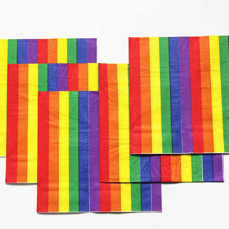 33*33 strip-type brilliant paper napkin