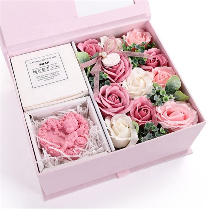 F-1322 Hottest Soap Rose Flower Gift Box Valentine's Day Mother's Day Gift