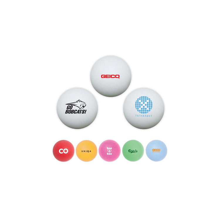 custom printed ping pong balls with black logo