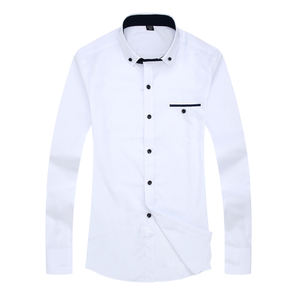 2020 Brand New Fashion Designer Long Sleeve Slim Fit High Quality Solid Men Dress Shirt Male Clothing Business Shirts