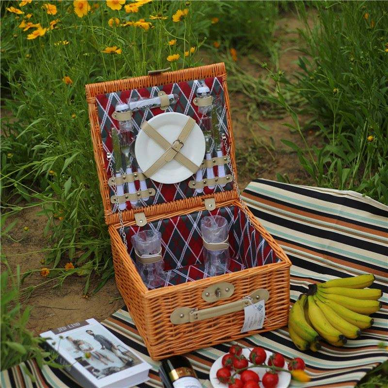 Hamper Type With Handle And House ware Box Wicker Storage Basket