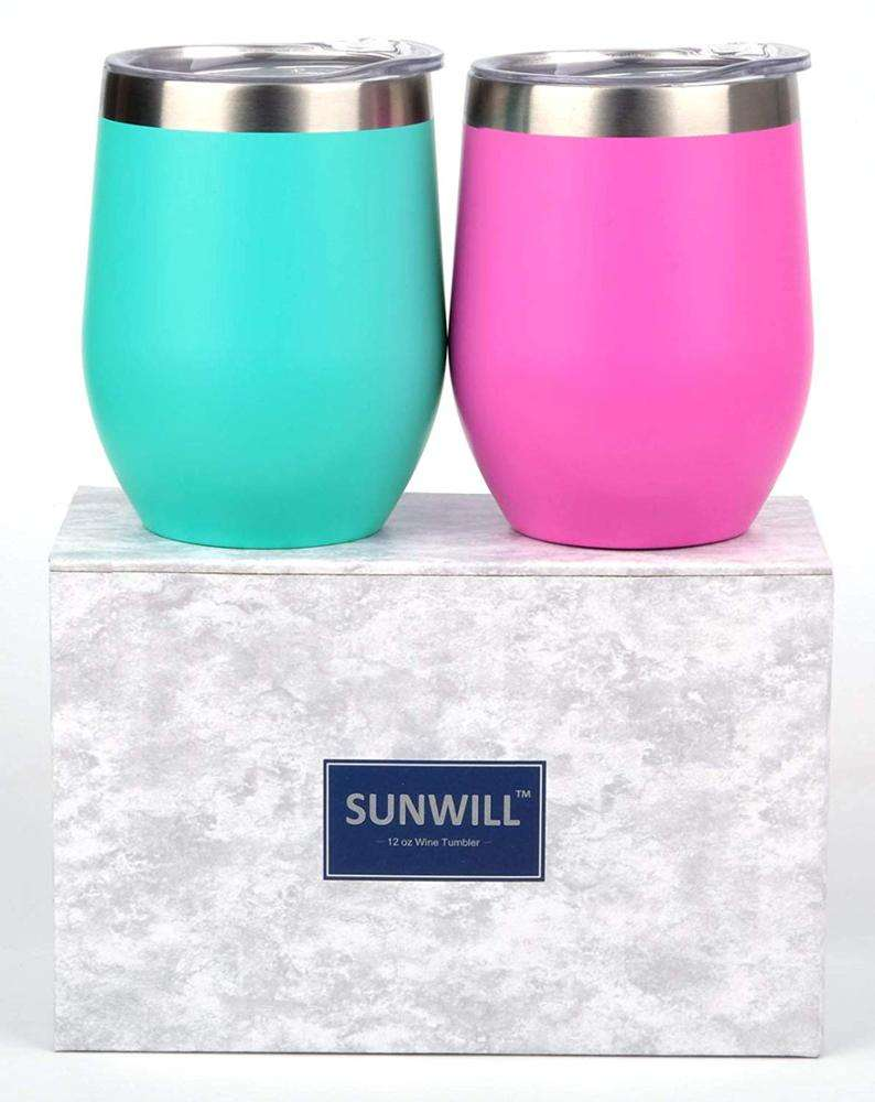 New Product Personalized Stainless Steel mug 12oz Wine Tumbler double wall tumbler for wholesale