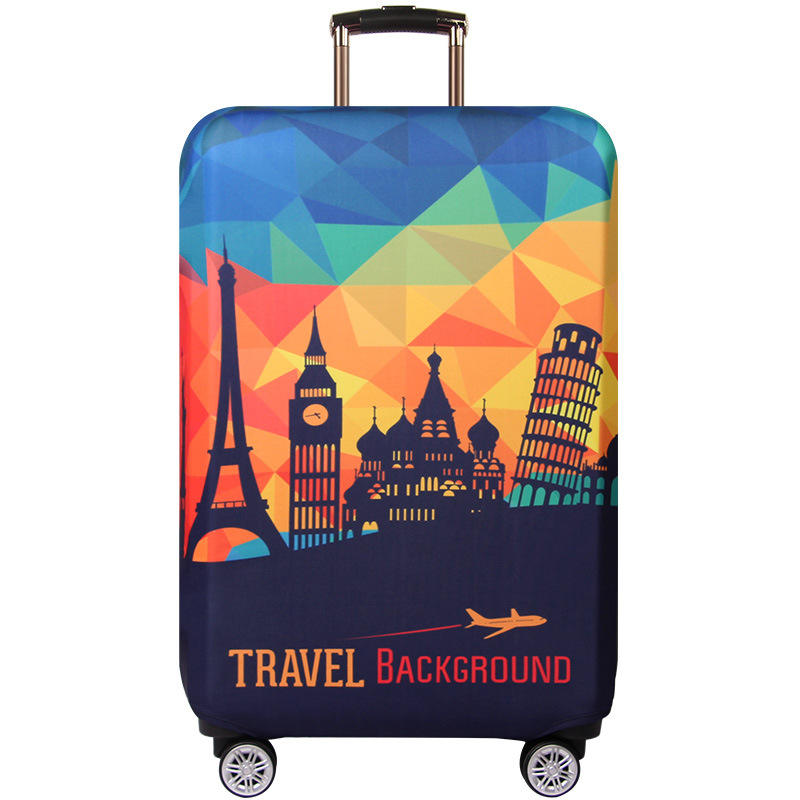 Wolf Digital Art Design Travel Suitcase Protector Anti-scratch Washable Dust Thicken Elasticity Cover Travel Luggage Cover