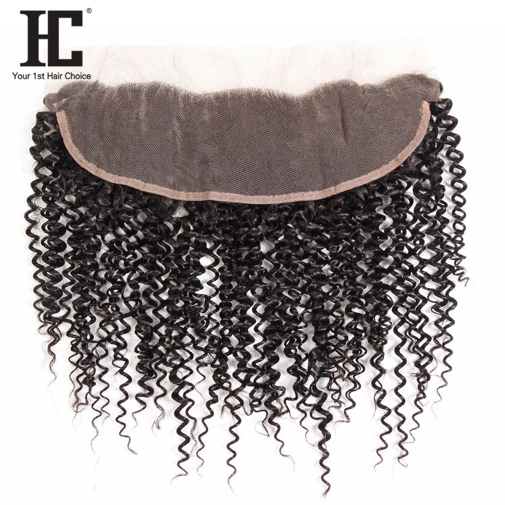 China Suppliers Natural Color Medium Brown Lace Kinky Curly Human Hair Best Selling Products 13X4 Frontal Brazilian Hairs