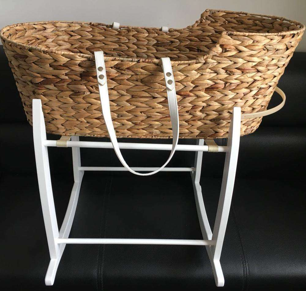 New design baby new zealand pinewood moses bassiner basket stand