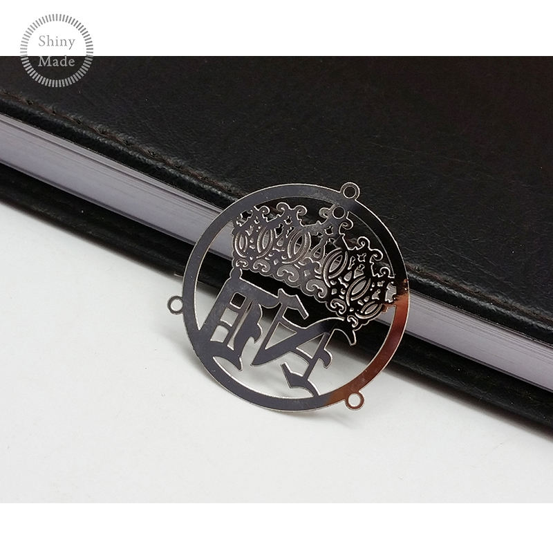 Fashion Silver Metal Plate Custom Metal Logo Label