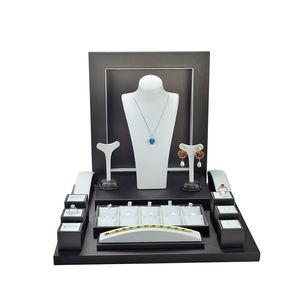 New Design PU Leather Luxury Jewelry Display Showcase Tray Set