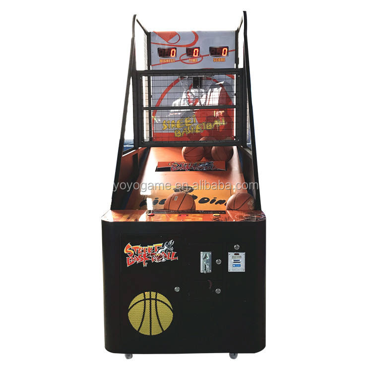 cheap and ordinary street basketball arcade game machine in coin operated game for sale