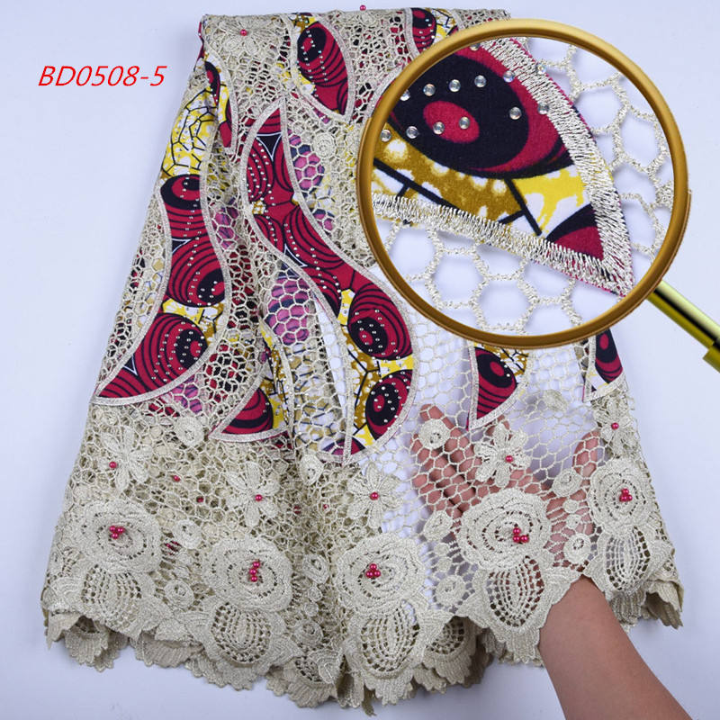 1587 Wholesale High Quality African Fabrics French Lace/African Lace Fabrics 5 Yards/African Tulle Lace For Party Dress