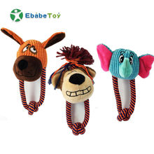 Customized High quality Tooth Cleaning Chewing playing Pet Squeaky Toys With Monkey Dog and Elephant shape