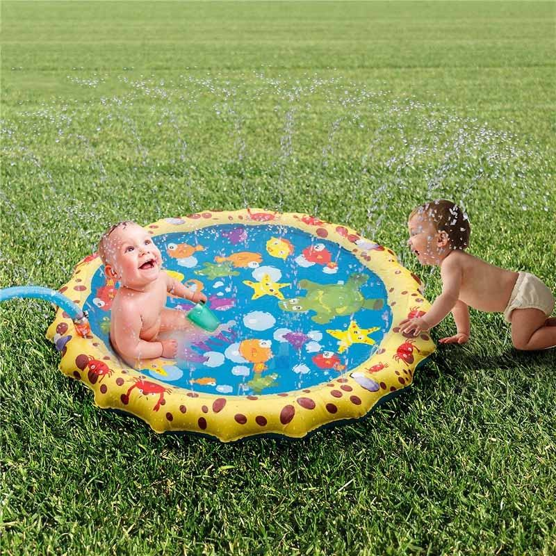 โรงงานขายส่ง 2019 Splash play mat 39/59/67in-Diameter play mat Inflatable Outdoor Sprinkler Pad