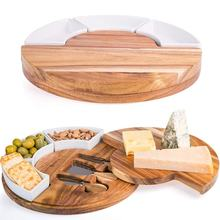 Acacia Cheese Cutting Board Set - Charcuterie Board Set and Cheese Serving Platter