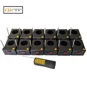 12 pcs receiver CE passed stage indoor cold fountain fireworks firing system for parties