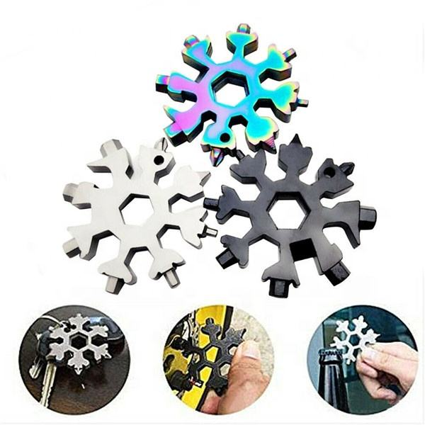Snowflake Multi Tool Pocket Screwdriver Handy Wrench Utility Multitool Cool Gadgets Christmas Valentine's Father's Day Birthday