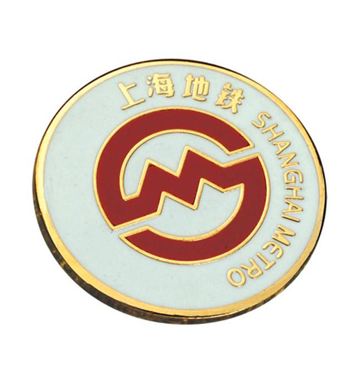 Custom Gold Metal Hard Enamel Lapel Pin Badges Company Anniversary Enamel Pins