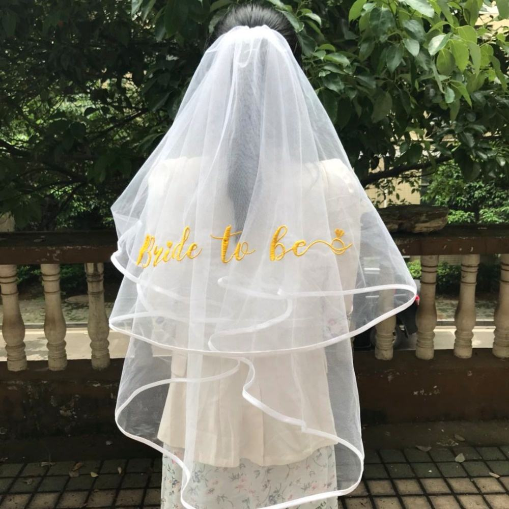 Wholesale New Style Bachelorette Party Bride To Be Embroidered Veil