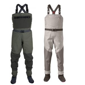 Large Size Durable and Comfortable Breathable Fishing Wader Suits with Boots