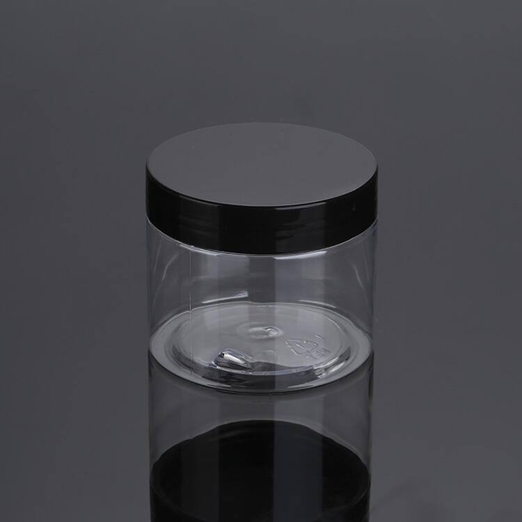 cosmetic packaging 30ml 50ml 100ml 120ml 200ml 250ml 500ml clear amber black pet plastic cream jar with plastic lid