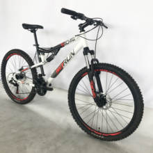 26 inch 21 speed china cheap high quality steel dual full suspension MTB mountain bike bicycle