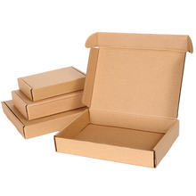 Wholesale Plain kraft paper cartons corrugated box packaging box