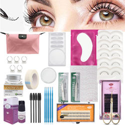 Hot sale lash starter kit eyelash extension tool professional kit with makeup case private label