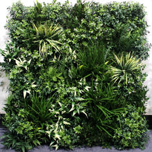 grass wall decor UV-resistant and flame-retardant monolithic plant wall for outdoor decoration only