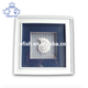 New wooden shadow box frame with shell, White Display Shadow Box Frame