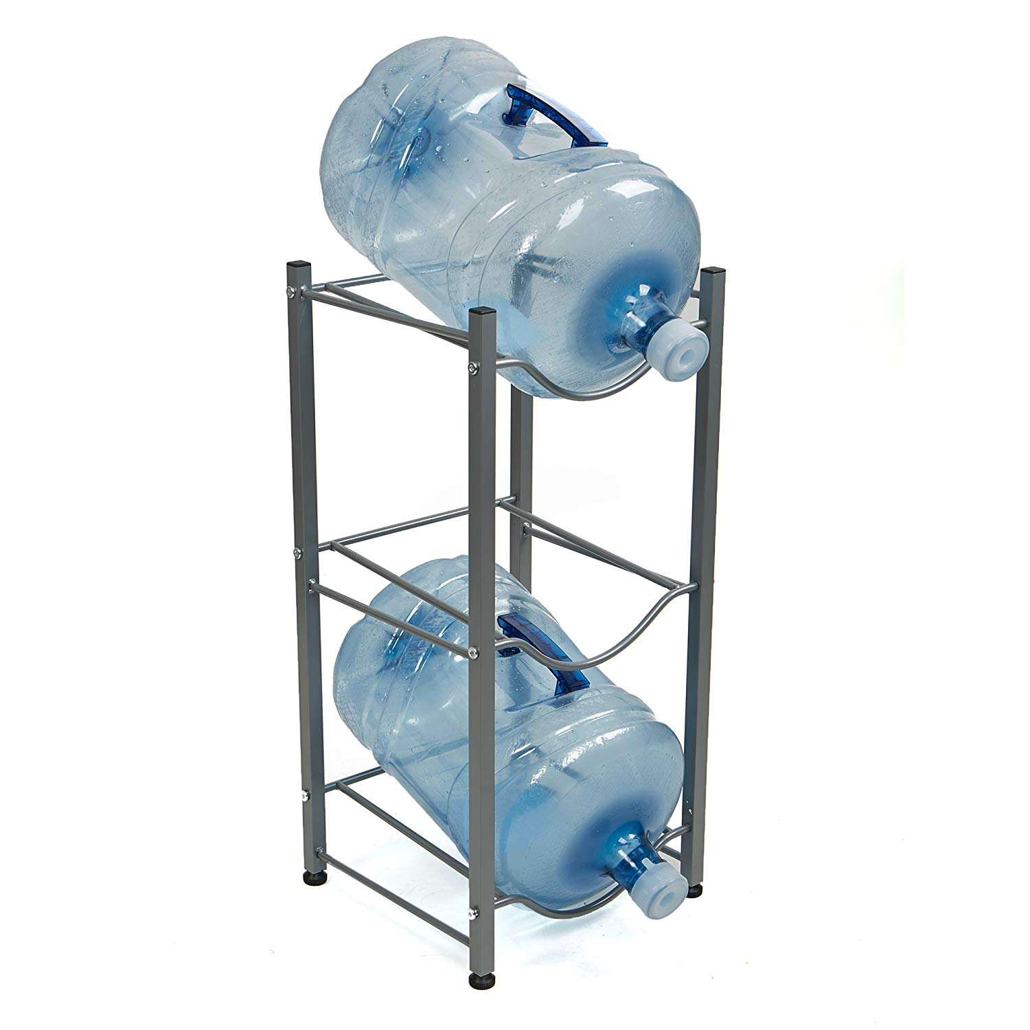 Home supply Wideny powder coated wire metal collapsible water bottle 5 gallon floor standing water dispenser shelf