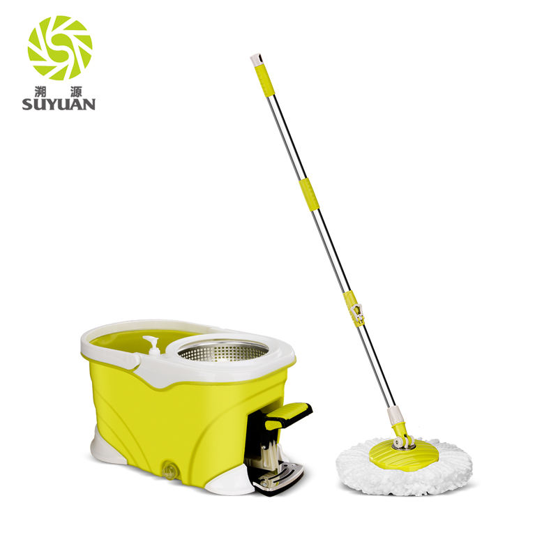 spin 360 cyclonic microfiber mop with pedal bucket