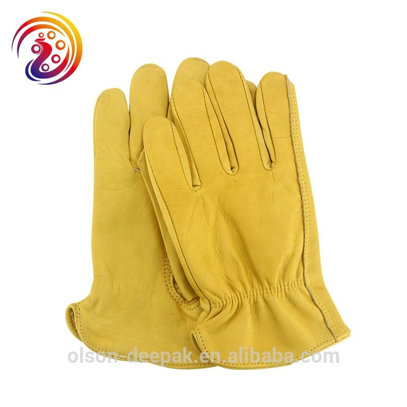 Work Gloves Cowhide Leather Gardening Drivers Motorcycle General Industrial Mining Safety Gloves