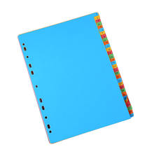 A4 size rainbow index divider file folder 12 page plastic file folder with elastic
