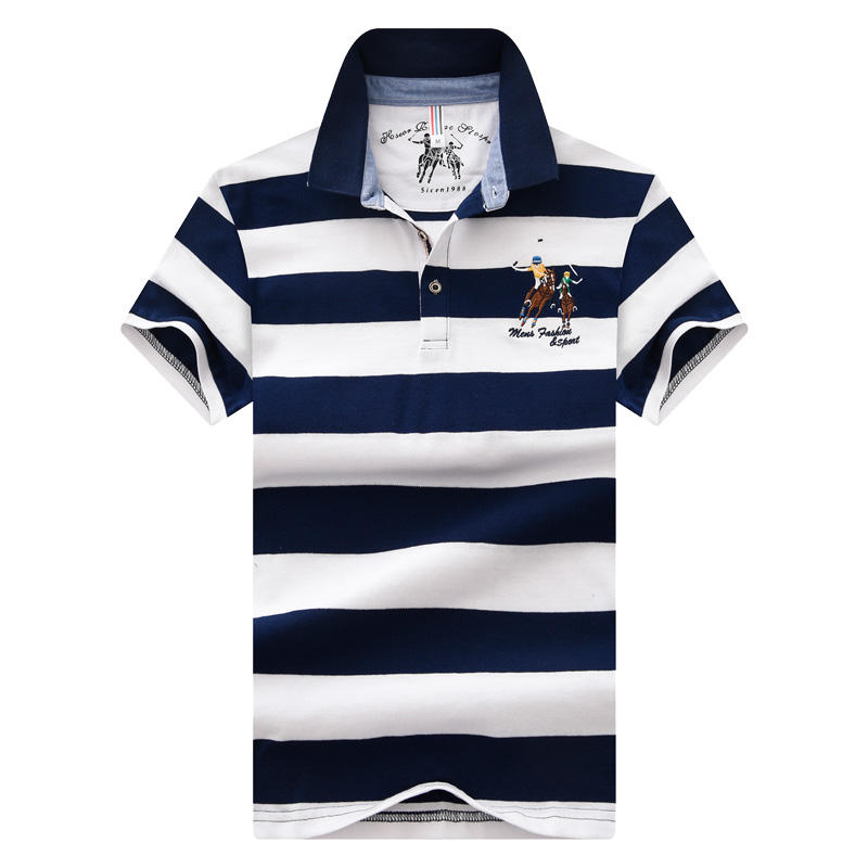 2020 Summer polo tshirt mens casual t shirt striped t short sleeve polo t shirt