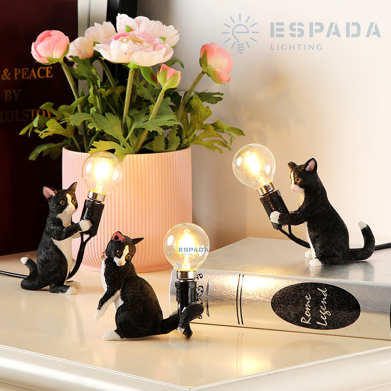 Home Decor light Shops Shelf Resin Art & Crafts Cat Animal lamp