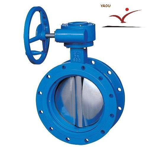D341X manual ventilating butterfly Concentric Flanged Butterfly Valve