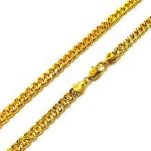 xuping wholesale bulk cube jewelry nickel free plated 24k italian gold chain