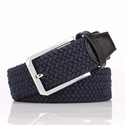 35mm stretch belt braided elastic woven belt mens belts for