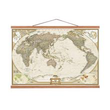 Premium quality special world map canvas print