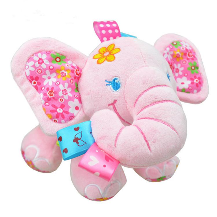 China Großhandel nach maß angefüllte plüsch tier spielzeug baby spielzeug rosa elefanten