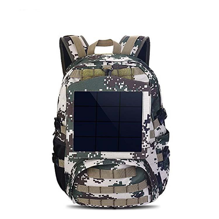 Solar men's solar charging backpack smart USB charging Business laptop bagpack with Voltage Regulate Charging Power bag
