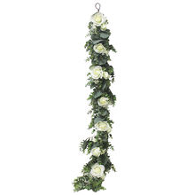 Supla appear realistic silk garland arch event wedding decoration vine artificial plant ceiling decoration rose flower garland