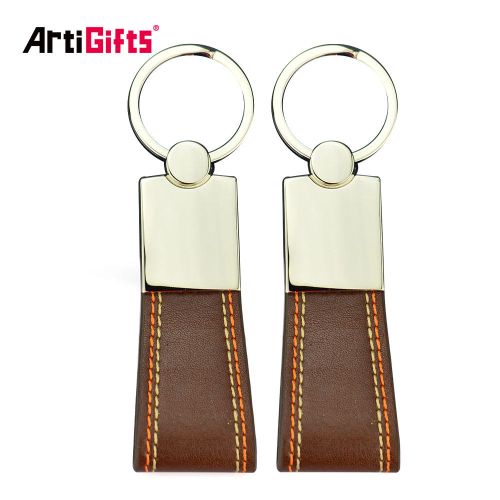 High performance wed gift personalized printing leather keychain keyring for man