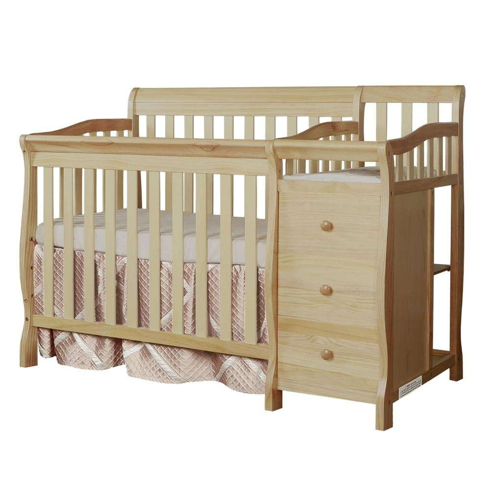 Wooden Baby Foldable Multifunctional Cot Baby Crib