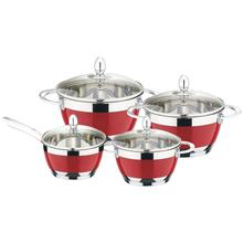 8PCS High Quality  Stainless Steel  Nonstick Casserole Cookware Set With Induction Bottom