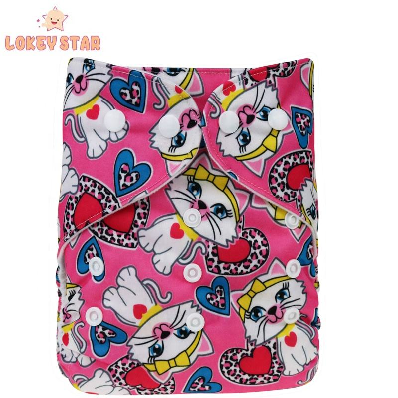 Lokeystar Cartoon Rabbit Highly Absorbent Pocket Newborn Cloth Diapers Nappy Underwear Cloth Diapers for Boys Girls