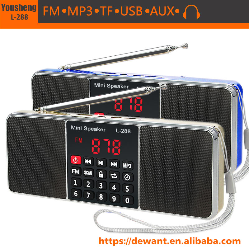 L-288 FM Sepeda Radio FM Motor Radio MP3 Audio Player
