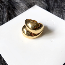 14k gold big dome statement women ring unique chunky cocktail ball ring wide oval eccentric skinny modern stack large ring
