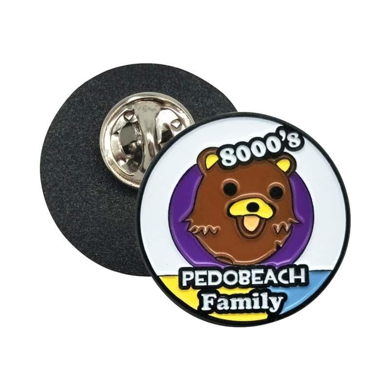 The Most Modern Custom Metal Handsome Cute Brown Bear Shaped Badge